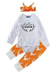 bebê Para Meninas Interior Ao ar Livre Casual Fashion Animal Conjunto,Estampa Animal Primavera/Outono Inverno