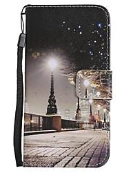 Назначение iPhone X iPhone 8 iPhone 8 Plus Чехлы панели Кошелек Бумажник для карт со стендом Флип С узором Чехол Кейс для Вид на город
