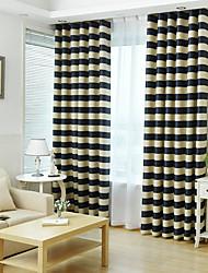 Ventana Tratamiento A Rayas , A Rayas Sala de estar Material Blackout cortinas cortinas Decoración hogareña For Ventana