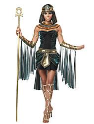 Costumes de Cosplay Casque Costume de Soirée Costumes égyptiens Fête / Célébration Déguisement d'Halloween Vert foncé Rétro Other Robe