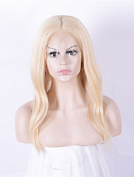 Women Human Hair Lace Wig Lace Front 130% Density Straight Wigs Brazilian Hair Blonde Medium Long Natural Hairline