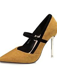 Damen Schuhe Wildleder Herbst Winter Pumps High Heels Für Kleid Party & Festivität Schwarz Gelb Rot Khaki