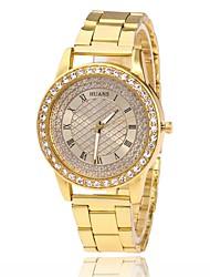 Муж. Жен. Модные часы Наручные часы Имитационная Четырехугольник Часы Китайский Кварцевый Имитация Алмазный сплав Группа С подвесками