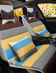 ein Regenbogen Karikatur Auto Kissen Leinen Kissen Sitzbezug Sitz vier Jahreszeiten allgemein rund um ganze Leinen -2 #
