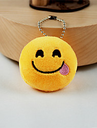 New Arrival Cute Emoji Foodie Face Key Chain Plush Toy Gift Bag Pendant