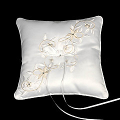 Fairy Tale Dreams Square Satin Wedding Ring Bearer Pillow