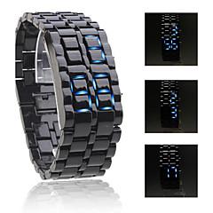 Cobra Edition Unisex Sports Blue LED Faceless Wrist Watch (Black)
