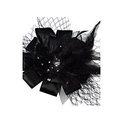 Femme Satin / Tulle Casque-Mariage / Occasion spéciale Coiffure / Fleurs Clair Irrégulier