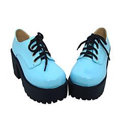 נעליים לוליטה פאנק לוליטה עקב גבוה נעליים אחיד 8 CM לבן / Black / כחול ל נשים עור פוליאוריתן