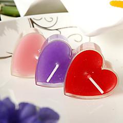가든 테마 촛불 부탁-6 조각 / 세트 캔들 비 개인화 레드 / 핑크 / 라일락