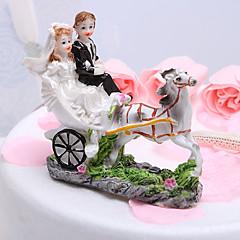 Tortenfiguren & Dekoration Klassisches Paar / Fahrzeug Harz Hochzeit / Brautparty Weiß / Schwarz Garten Thema Geschenkbox