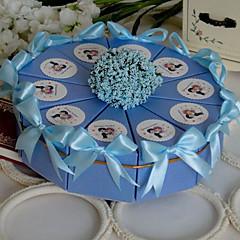 Baby's Breath Light Sky Blue Cake Favor Box (Set of 10)