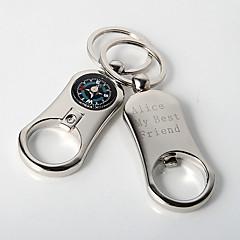 סגסוגת אבץ מצדדים במחזיק מפתחות-4 חתיכה / סט מחזיקי מפתחות נושא קלאסי מותאם אישית כסף