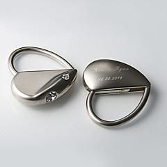 Zinklegierung Keychain Favors-4 Stück / Set Schlüsselanhänger Klassisches Thema individualisiert Silber