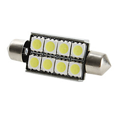 42mm 8x5050 SMD weißes Licht LED-Lampe für Auto canbus (DC 12V, 2-pack)