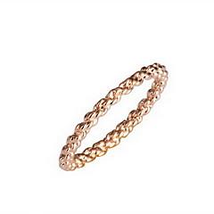 precioso oro de 18 quilates chapado en forma de círculo de la moda del anillo
