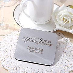 Personalized Square Shape Coasters - Set Of 6