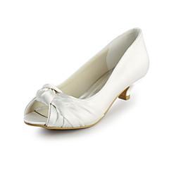 בלרינה\עקבים - נשים - נעלי חתונה - עקבים / נעלים עם פתח קדמי - חתונה - שחור / ורוד / אדום / שנהב / לבן / כסוף / זהב / שמפניה