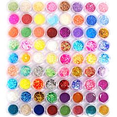 72 색상의 반짝이 네일 아트 장식 조합