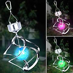 napelemes LED színváltó saturn szél tárcsa függő spirál fény