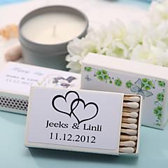 Karton Bryllup Dekorationer-12Piece / Set Personliggjort Tændstikker er ikke inkluderet