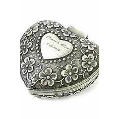 personalisierte eleganten herzförmigen dekoratives Muster Zinn-Legierung Frauen Schmuckschatulle