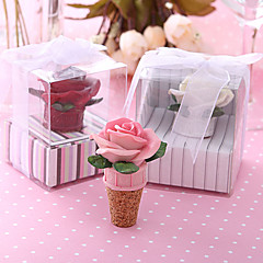 "Resin Bottle Favor-4Piece/Set Bottle Stoppers Floral Theme Non-personalised White / Pink 3 1/5"" x 3 1/5"" x 3 1/5""(8*8*8cm)"