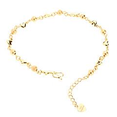 Tylsät Puolan Helmi Sydämen muotoinen kullattu Bracelace