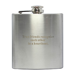 Gift Groomsman Personalized Stainless Steel 6-oz Flask