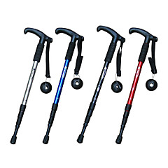 4 Folding T Type Functional Hiking Poles (Random Color)