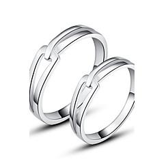 Clássico 925 casais Sterling Prata Anéis