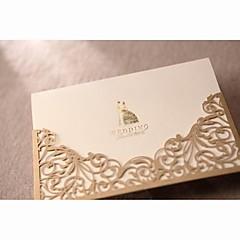 """לא מותאם אישית הזמנות ומעטפות הזמנות לחתונה לדוגמא הזמנה-1 יחידה / סט סגנון קלאסי נייר פנינה 6 ½""""×4 ½"""" (16.6*11.5ס""""מ)"""