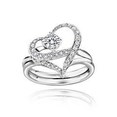 Ring Women's Crystal Alloy Alloy Heart 6 / 7 As the PictureColor & Style representation may vary by monitor. Not responsible for