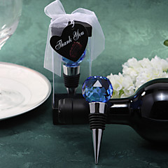Blue Crystal Ball Wine Stopper