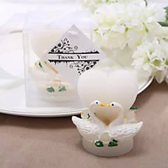 Heart and Swan Design Candle (set of 4)