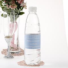 Personalized Water Bottle Sticker - Argyle (Blue/Set of 15)