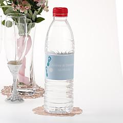 Personalized Water Bottle Sticker - Flip Flops (Blue/Set of 15)