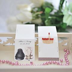 Papel Cartão Decorações do casamento-50Peça/Conjunto Personalizado Fósforos não inclusos.