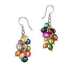 Krásné barevné Pearl Dámské náušnice