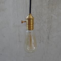Max 60W Tradisjonell / Klassisk / Vintage Pære Inkluderet Messing Vedhæng Lys Soveværelse / Spisestue / Entré