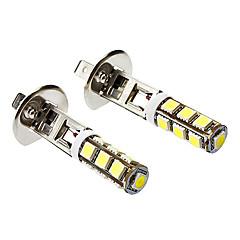 H1 6W 500LM 13X5060SMD Weißlicht-LED-Mais-Birnen für Auto-Nebel-Lampe (DC 12V, 1-Pair)