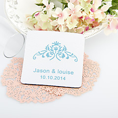Personalized  Vintage Floral Wedding Coasters-Set of 4(More Colors)