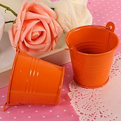 Orange Minisüßigkeit Favor Box Pail Bucket Wedding Party Favor-Set von 12