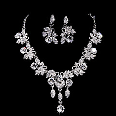 Jewelry Set Women's Anniversary / Wedding / Engagement / Birthday / Gift / Party / Special Occasion Jewelry Sets AlloyRhinestone / Cubic