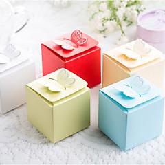 25 Stück / Set zugunsten Halter - Kubikkartenpapier / Perlenpapier Bevorzugungskästen Schmetterling