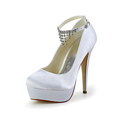 Women's Wedding Shoes Platform/Heels Heels Wedding Black/Blue/Pink/Purple/Red/Ivory/White/Silver/Gold/Champagne