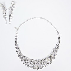 Jewelry Set Women's Wedding / Party / Special Occasion Jewelry Sets Alloy Crystal / Cubic Zirconia Necklaces / Earrings As the Picture