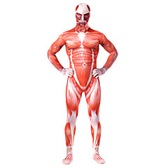 Inspired by Attack on Titan Bertolt Huber Anime Cosplay Costumes Cosplay Suits Patchwork / Print Red Leotard