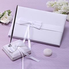Guest Book / Pen Set Satin Garden ThemeWithSash
