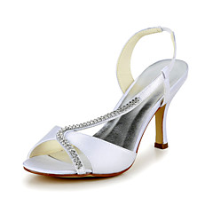 Satin Wedding Occasion Stiletto Heel Sling Back & Pumps Sandals & Heels(More Colors)